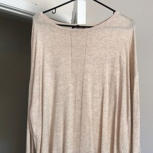 Oversized sweater with pretty front detail